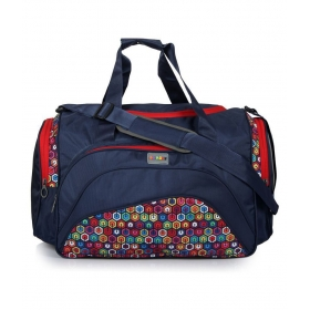 Bendly Blue Printed Duffle Bag