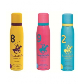 Beverly Hills Polo Club Sport Deodorant Spray No 9,8,2 (pack Of 3) For Women