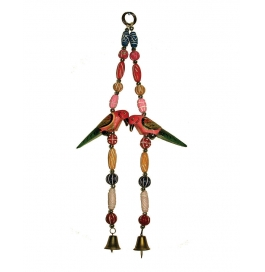 Curtain Hanging Small Red Bird