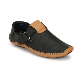 Men's Black Roman Sandal