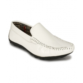 Mens White Loafers