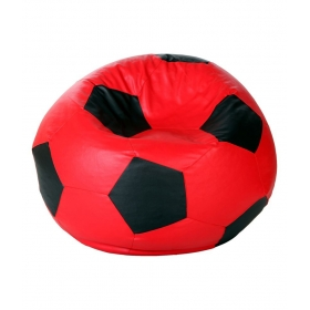 Bean Bag (football Shape) Xl Size Red And Black (filled)