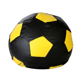 Bean Bag (football Shape) Xxl Size Black And Yellow (filled)