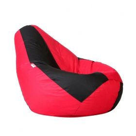 Xl Bean Bag Cover In Black & Red (without Beans)