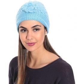 Blue Woollen Cap For Women
