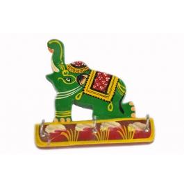Key Stand Green Elephant