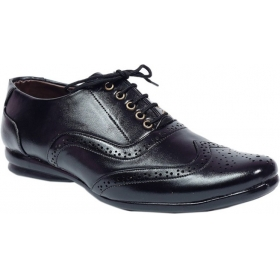 Men Casual Lace Up Shoes  (black)