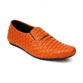 Mens Orange Loafers