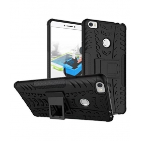 Black Shockproof Back Cover With Kickstand For Xiaomi Mi Max