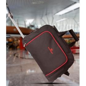 Wildmount Black Trolley Duffle Bag ( With Inside Trolley)