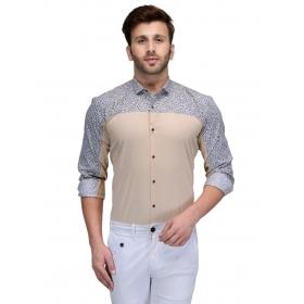Edjoe Men's Printed Slimfit Casual/club/partywear Shirt, Bledms0148