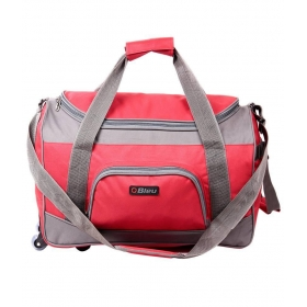 Red 2 Wheel Duffle Trolley 20 Inches