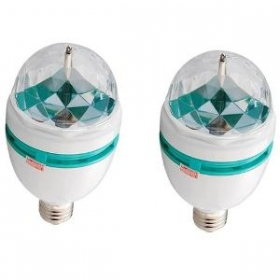 Bozz Led Full Color 360 Rotating Spot Light Lamp - Set Of 2