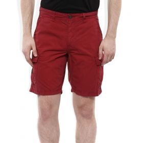 Maroon Solids Shorts