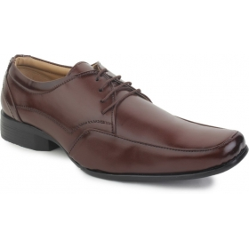Leather Corporate Dress Shoes Lace Up  (brown)