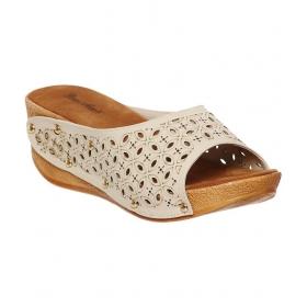 Beige Wedges Heels