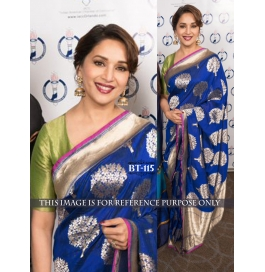 Creations Silk Blue Sarees