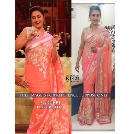 Creations Fab Best Georgette Multi Saree
