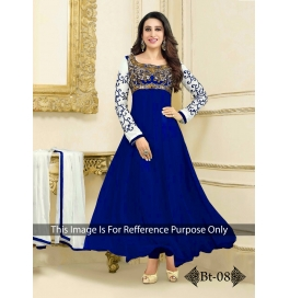 Creations Ideal Georgette Blue Gowns