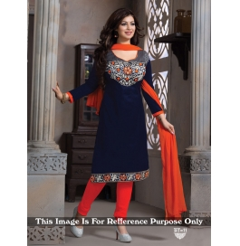 Creations Best Fab Georgette Blue Salwar Suits