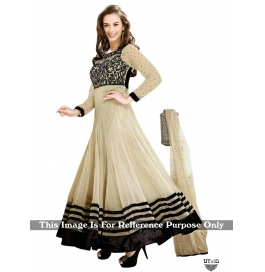 Creations Amusing Georgette Beige Anarkali