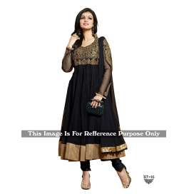 Creations Doozie Rad Net Black Anarkali