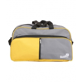 Yellow Solid Duffle Bag