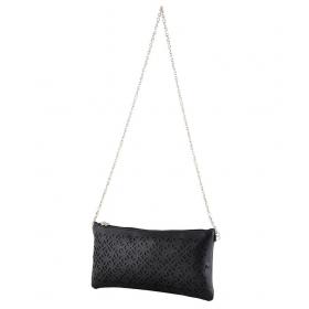 Black Fabric Box Clutch