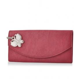 Butterflies Maroon Wallet
