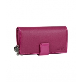 Butterflies Dark Pink Textured Finish Wallet