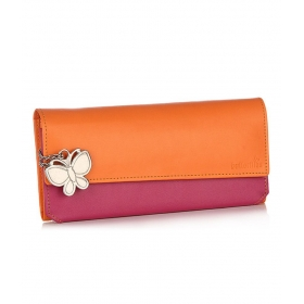 Butterflies Orange Wallet