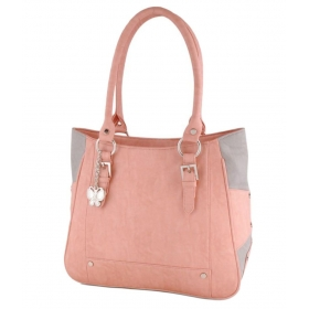 Peachpuff Faux Leather Handheld