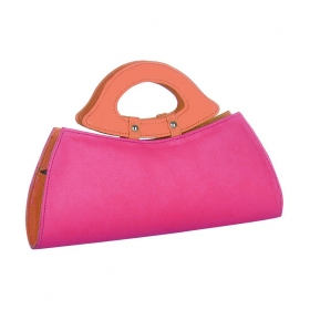 Butterflies Pink & Orange Pu Clutch