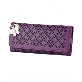 Butterflies Purple Wallet