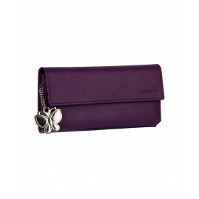 Butterflies Royal Purple Stylish Wallet