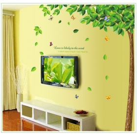 Ay886 Green Tree Nature Wall Sticker  Jaamso Royals