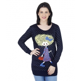 Navy Woollen Pullovers