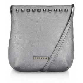 Caprese Gray Faux Leather Sling Bag