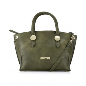 Caprese Green Faux Leather Shoulder Bag