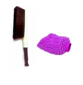 Vinayaka Bestrium Car Carpet Brush For Santro With Free Hand Mit Glove
