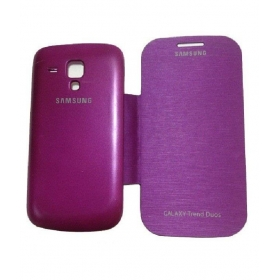 Samsung Galaxy S Duos S7562 Purple Flip Case Cover Flip Cover