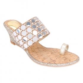 Gold Ethnic Footwear