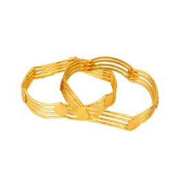 Alloy Yellow Gold Bangle Set (pack Of 2)