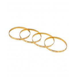 Alloy Yellow Gold Bangle Set (pack Of 4)