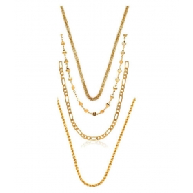 Gold Plated Chain - Set Of 4