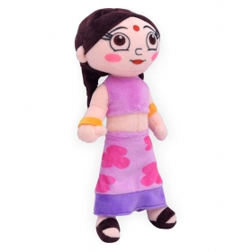 Chhota Bheem Purple & Yellow Recron Polyfiber Filling Chutki Soft Toy