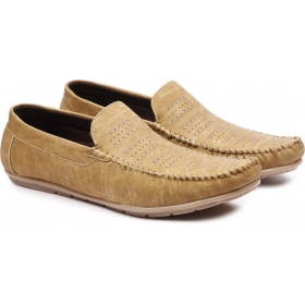 Men's Beige Synthetic Loafers