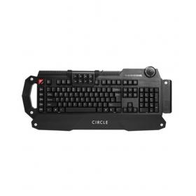 Circle Ballistic Black Usb Wired Desktop Keyboard Os: Windows 98se/2000/me/xp/vista/win7/8/mac