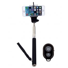 Selfie Stick With Bluetooth Remote Monopod