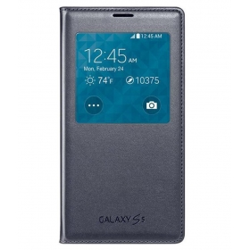 Flip Cover For Samsung Galaxy S5 G900h - Black